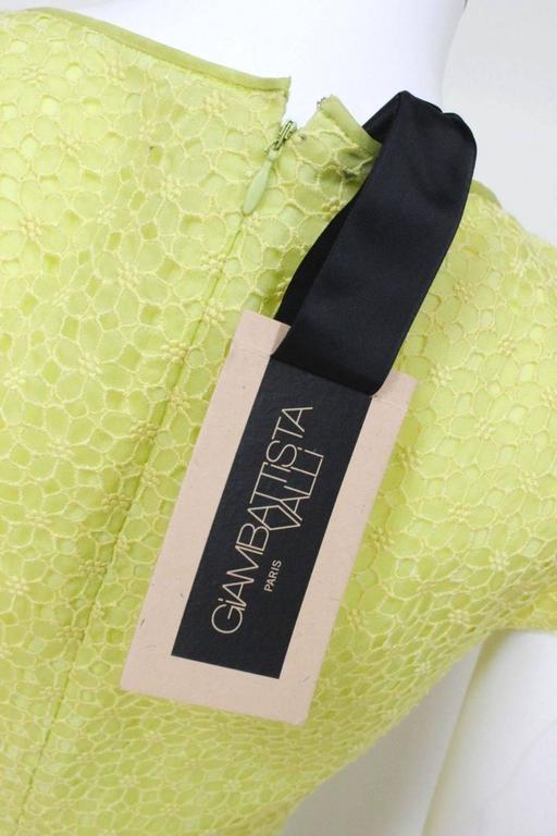 New Giambattista Valli Lime Lace Dress IT 40 UK 8  5