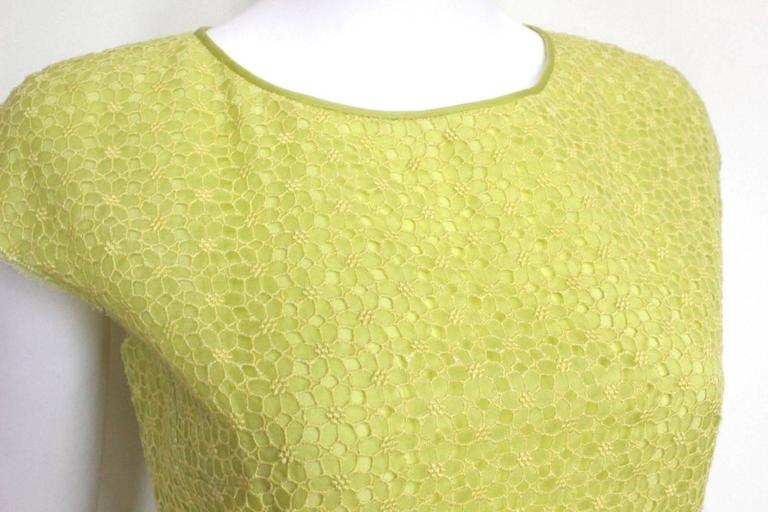 New Giambattista Valli Lime Lace Dress IT 40 UK 8  6