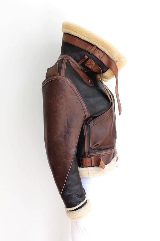 "Balenciaga Leather ""Palma"" Aviator Jacket Shearling ..."