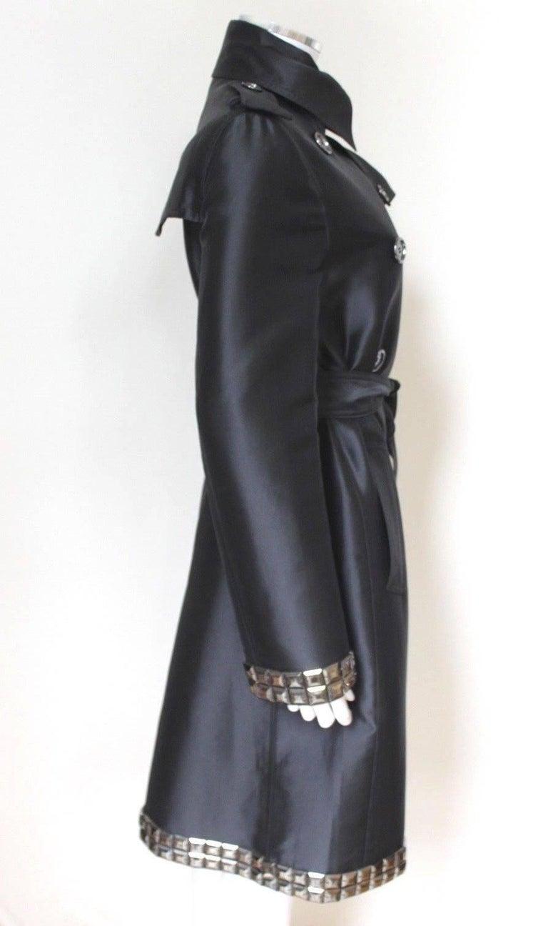 New DAVID KOMA Leather Wool Fur Woven Detail Coat UK 10   3