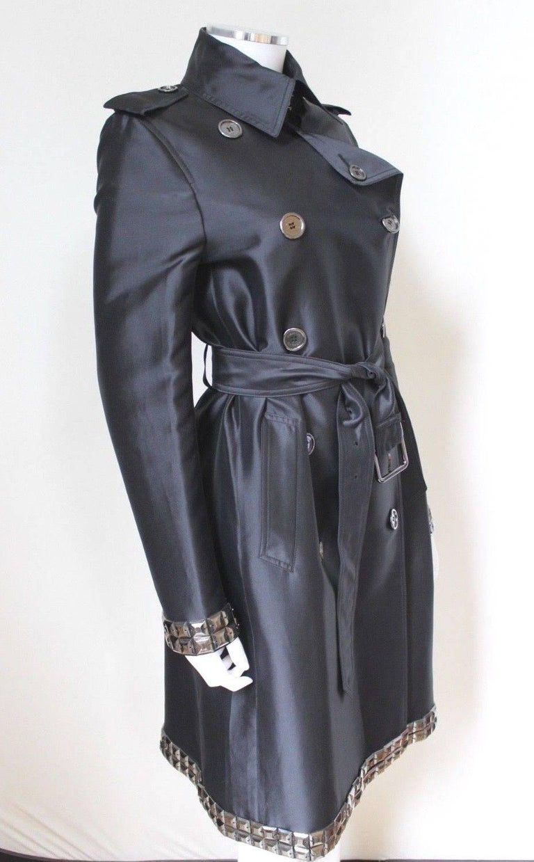 New DAVID KOMA Leather Wool Fur Woven Detail Coat UK 10   4