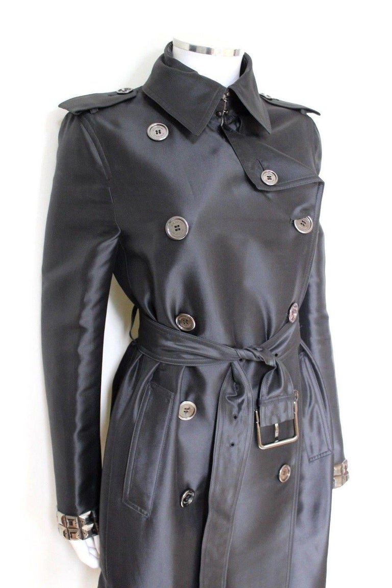 New DAVID KOMA Leather Wool Fur Woven Detail Coat UK 10   2