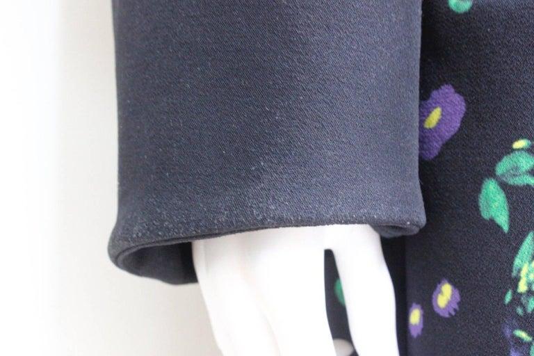Erdem Black Floral Oversized Coat Uk 8   5
