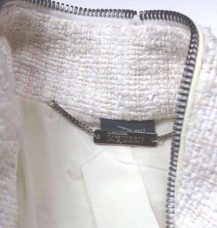 Alexander McQueen Fall 2011 Paris Collection White Mink Fur Coat 44 uk 12  10