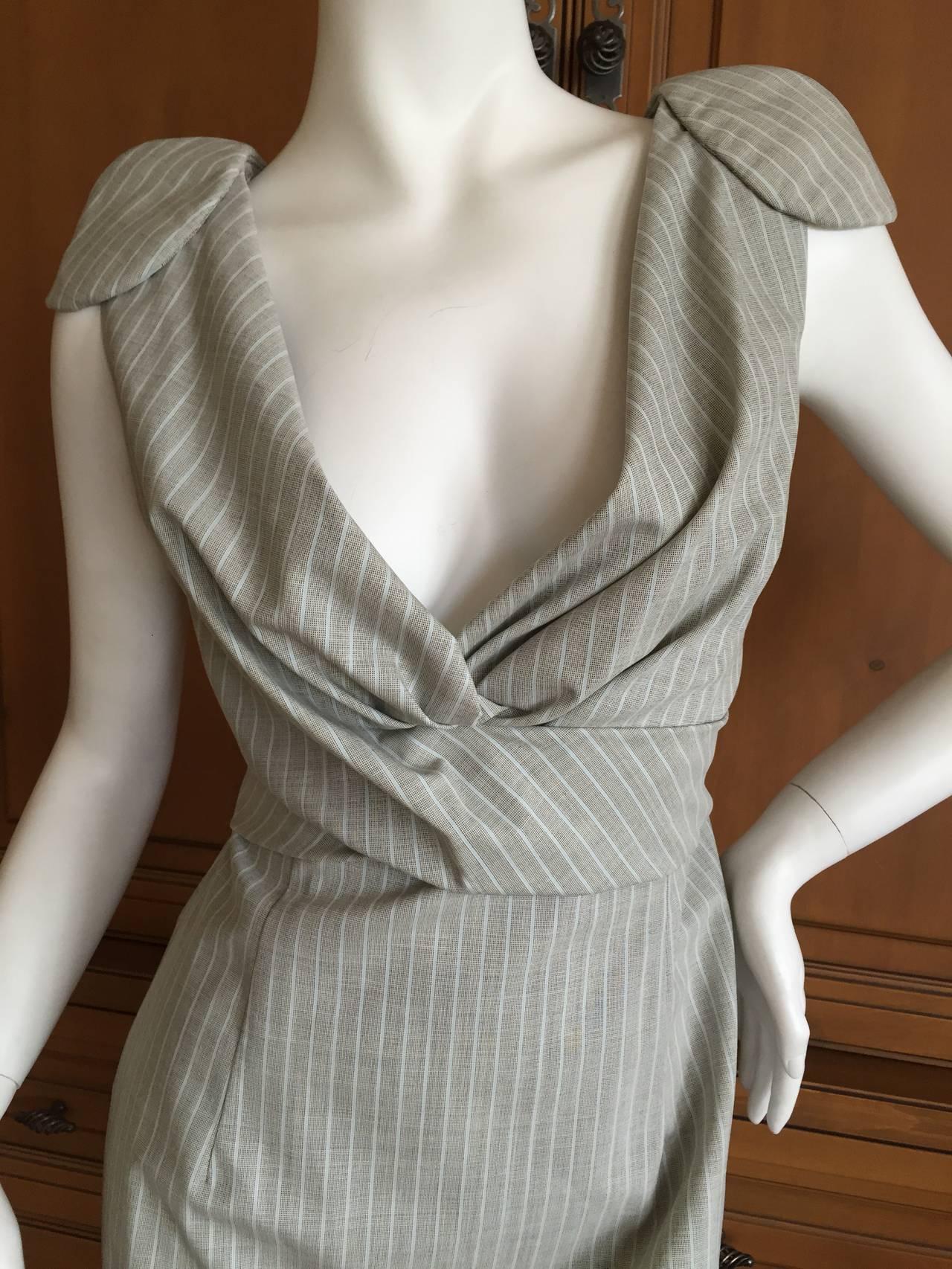 Alexander McQueen Pinstripe Dress 2009 NWT 2