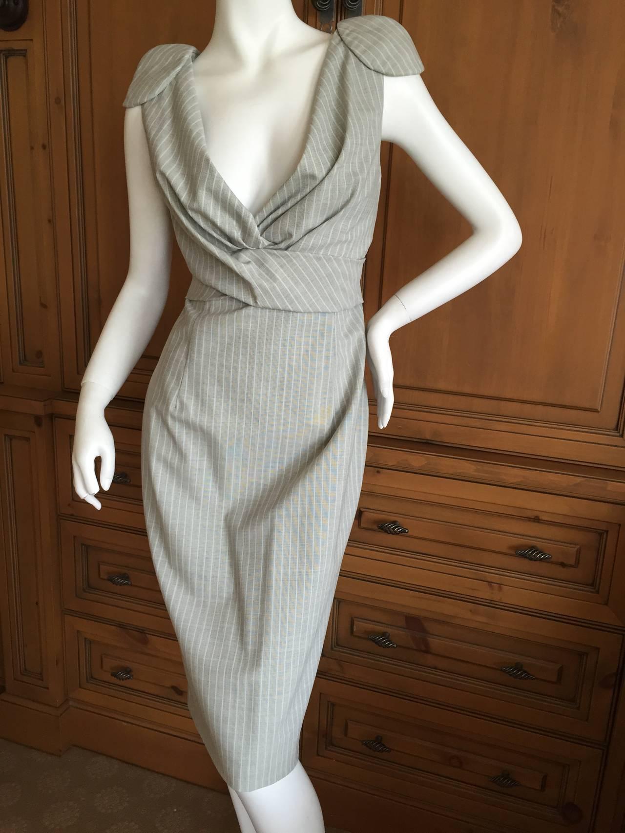 Alexander McQueen Pinstripe Dress 2009 NWT 3