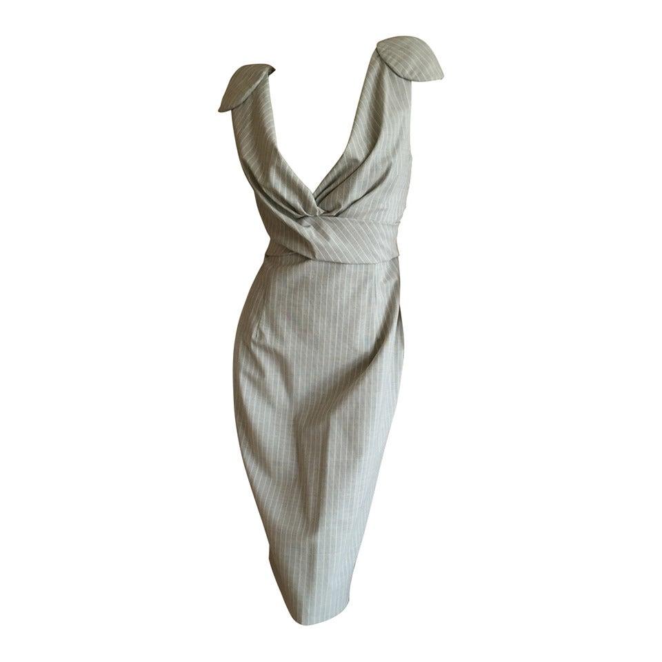 Alexander McQueen Pinstripe Dress 2009 NWT 1
