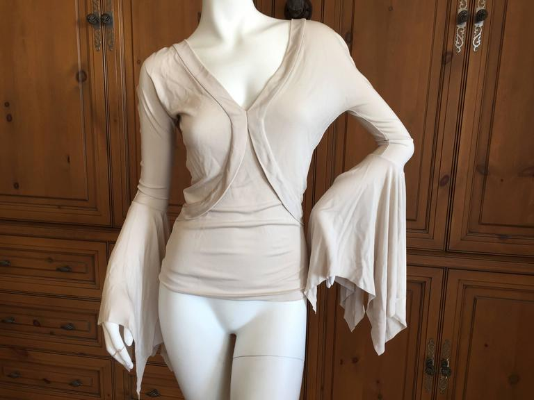 Tom Ford Yves Saint Laurent Bell Sleeve Top
