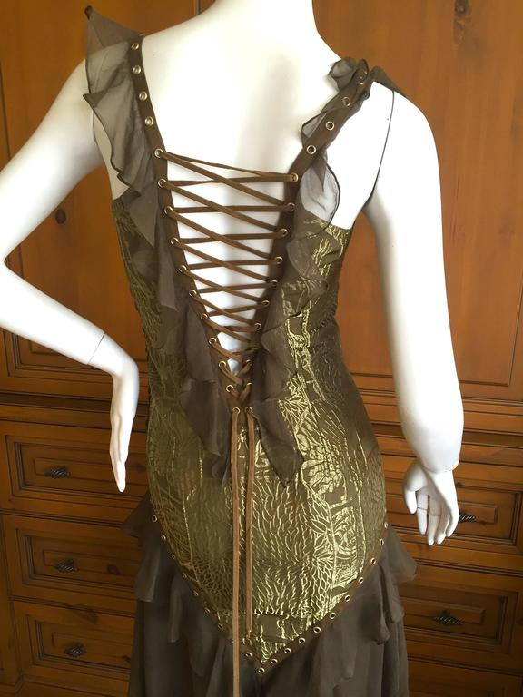 Dior By Galliano Corset Lace Cocktail Dress For Sale At