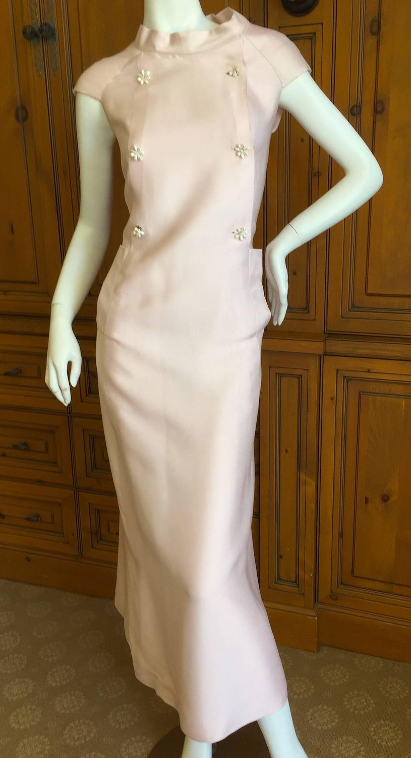 Christian dior numbered haute couture 1960 pink silk dress for Haute couture dress price