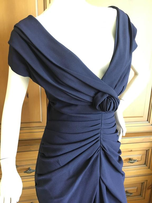 Christian Dior by John Galliano Low Cut Navy Blue Cocktail Dress 5