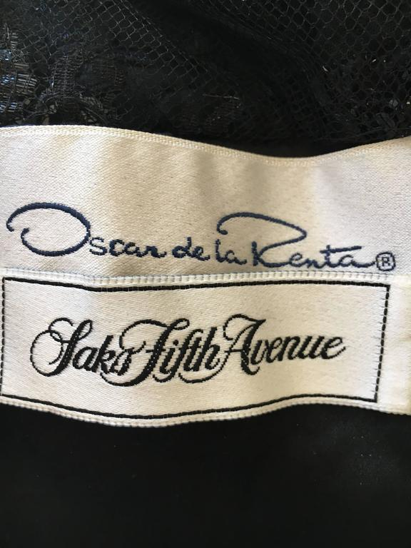 Oscar de la Renta Vintage Velvet Cocktail Dress with Sequin Lace Details 5