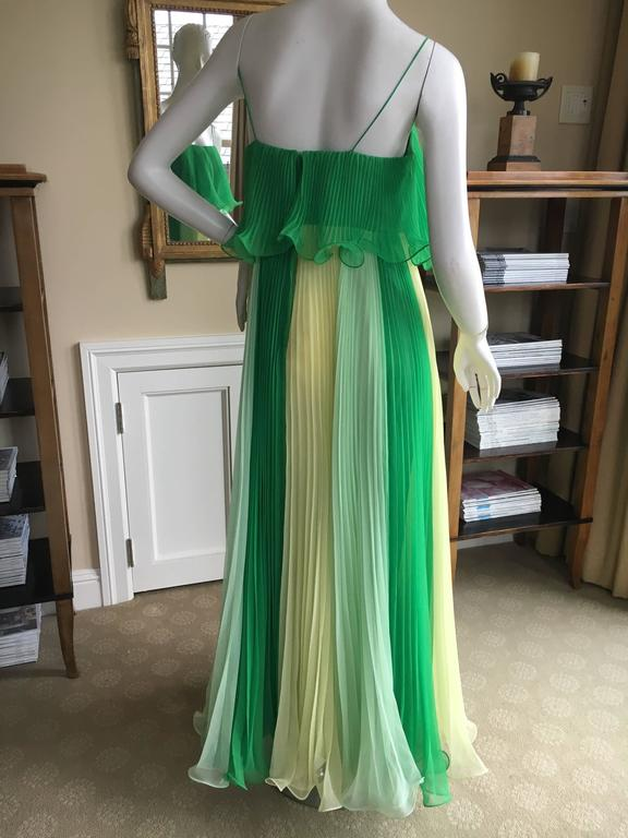 Miss Elliette California 1960's Sheer Pleated Dress with ...