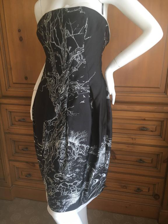 Black Alexander McQueen Girl Who Lived In a Tree Dress New Fall 2008 For Sale