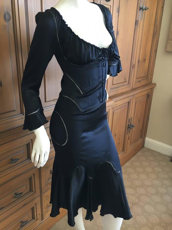 Alexander McQueen Fall 2002 Supercalifrgilistic Collection Little Black Dress 7
