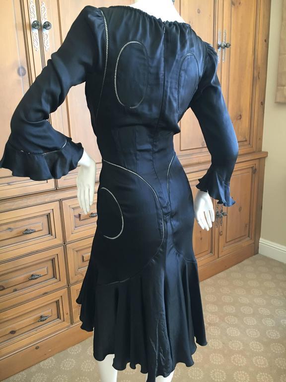 Alexander McQueen Fall 2002 Supercalifrgilistic Collection Little Black Dress 4