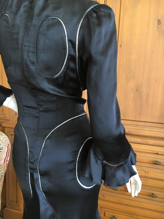 Alexander McQueen Fall 2002 Supercalifrgilistic Collection Little Black Dress 8