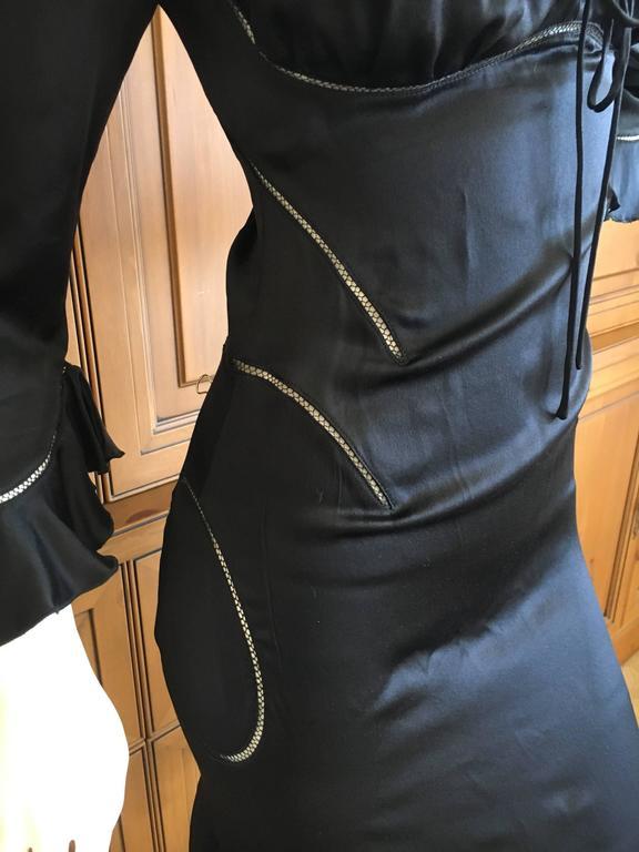 Alexander McQueen Fall 2002 Supercalifrgilistic Collection Little Black Dress 6