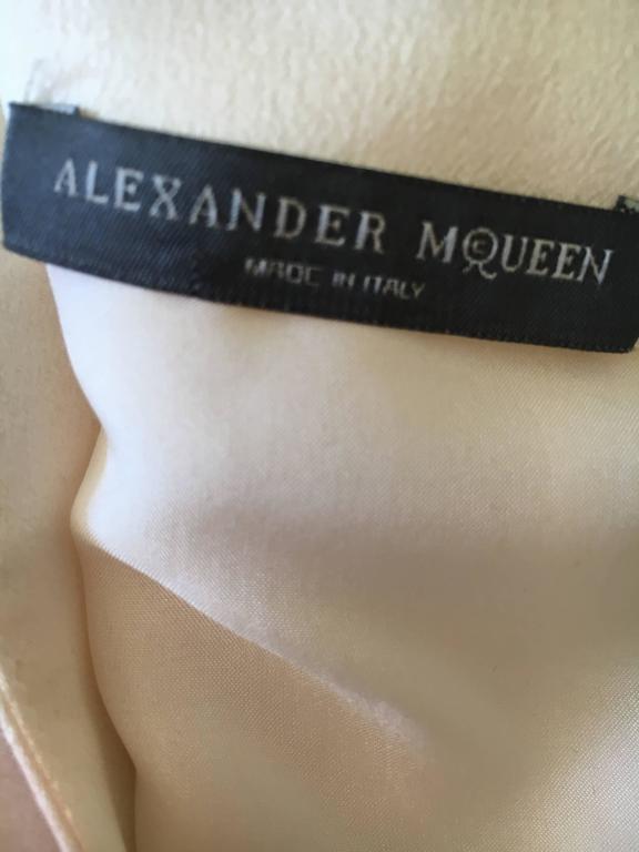 """Alexander McQueen Silk Sleeveless """"Smoke"""" Dress Spring 2009 9"""