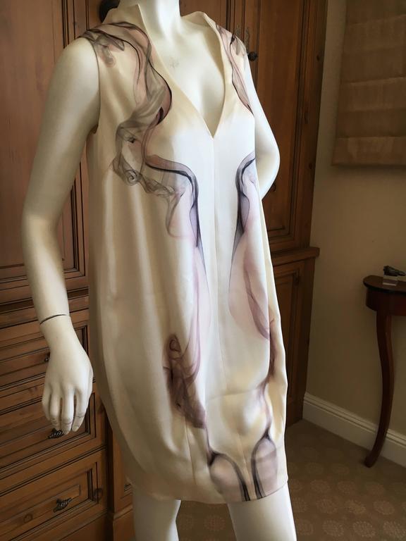 """Alexander McQueen Silk Sleeveless """"Smoke"""" Dress Spring 2009 3"""