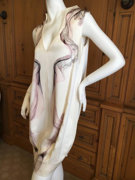 """Alexander McQueen Silk Sleeveless """"Smoke"""" Dress Spring 2009 5"""