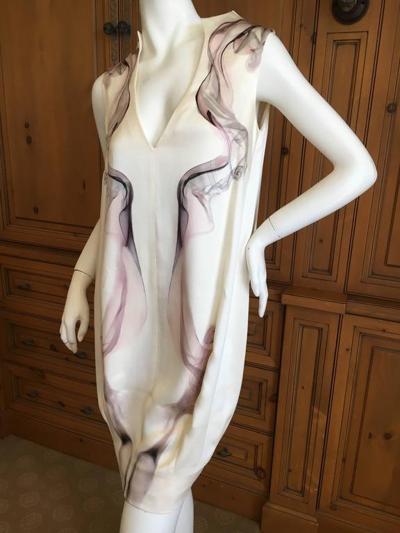 """Alexander McQueen Silk Sleeveless """"Smoke"""" Dress Spring 2009 7"""