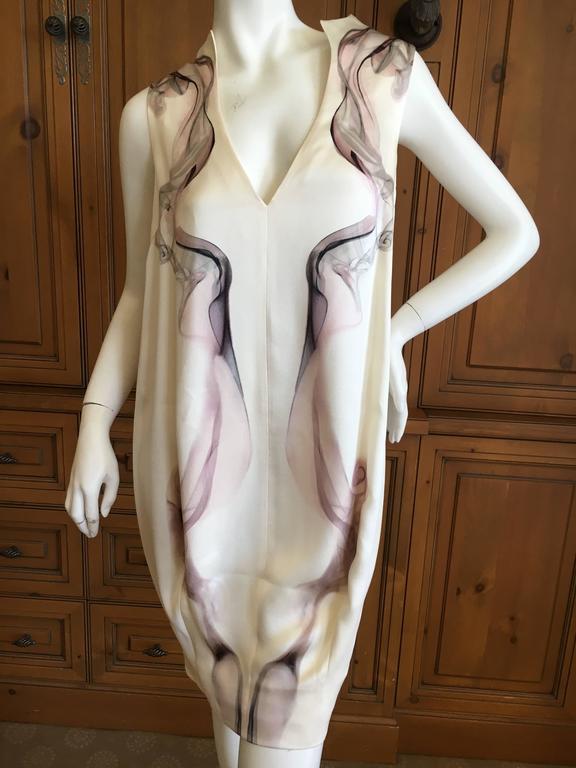 """Alexander McQueen Silk Sleeveless """"Smoke"""" Dress Spring 2009 6"""