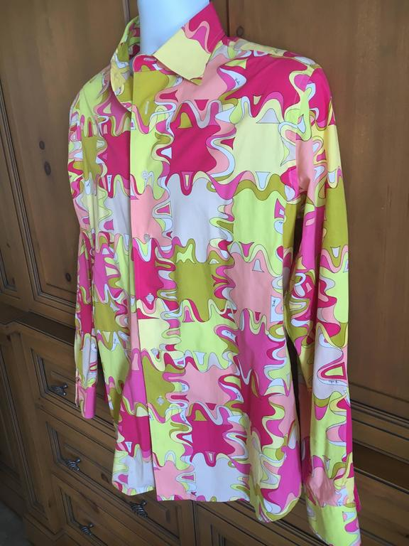Emilio Pucci Rare Men's Cotton Shirt XL 5
