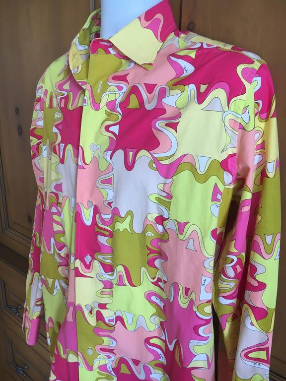Emilio Pucci Rare Men's Cotton Shirt XL 7
