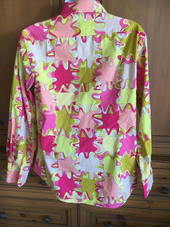 Emilio Pucci Rare Men's Cotton Shirt XL 8