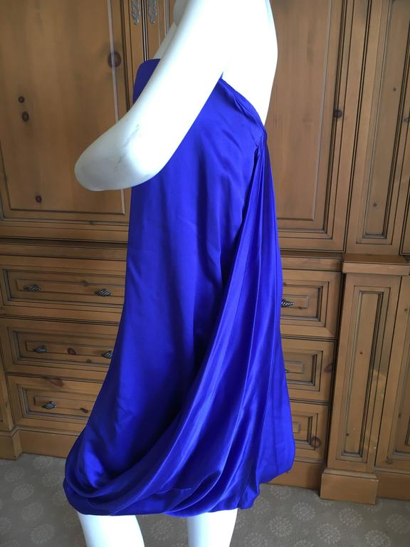 Alexander McQueen 2009 Royal Blue Draped Strapless Dress with Inner Corset For Sale 1