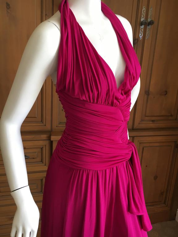 Giambattista Valli Fuchsia Low Cut Halter Dress 5