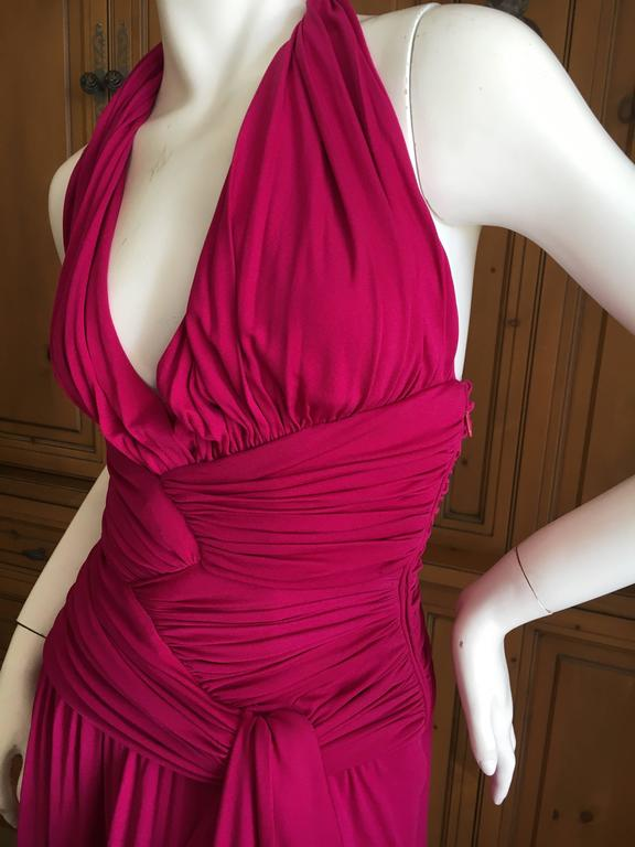 Giambattista Valli Fuchsia Low Cut Halter Dress 9