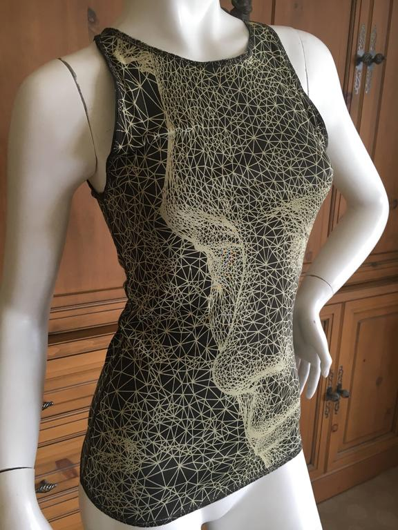 Jean Paul Gaultier Femme Face Print Tank Top 2