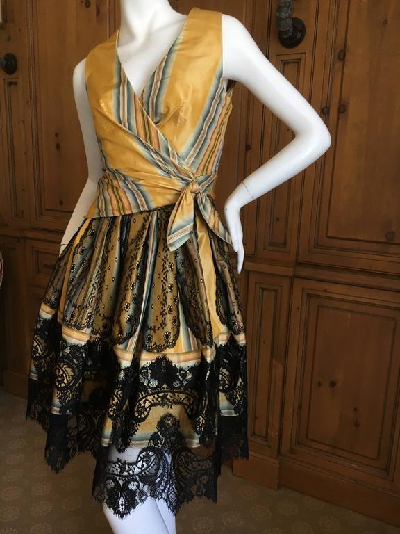 Christian Lacroix Charming Stripe Silk Summer Dress W