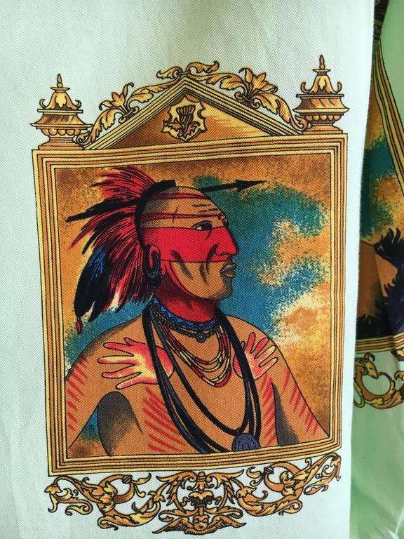 Versus Gianni Versace Rare1993 Cotton Indian Print Men's Large Shirt  7