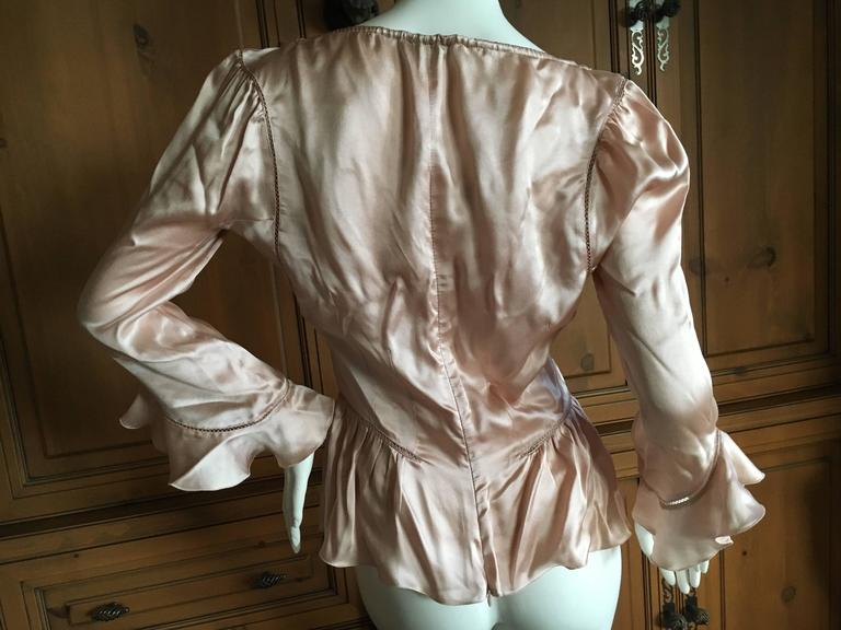 Alexander McQueen Fall 2002 Supercalifrgilistic Collection Milkmaid Silk Top For Sale 3
