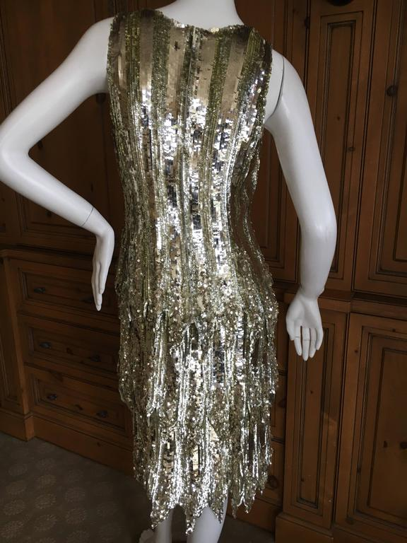 Chanel Haute Couture Gold Sequin Flapper Dress Karl