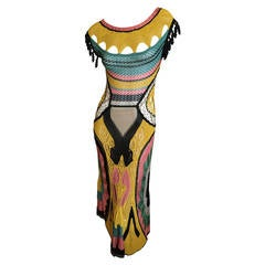 Jean Paul Gaultier Crochet Multicolor Dress