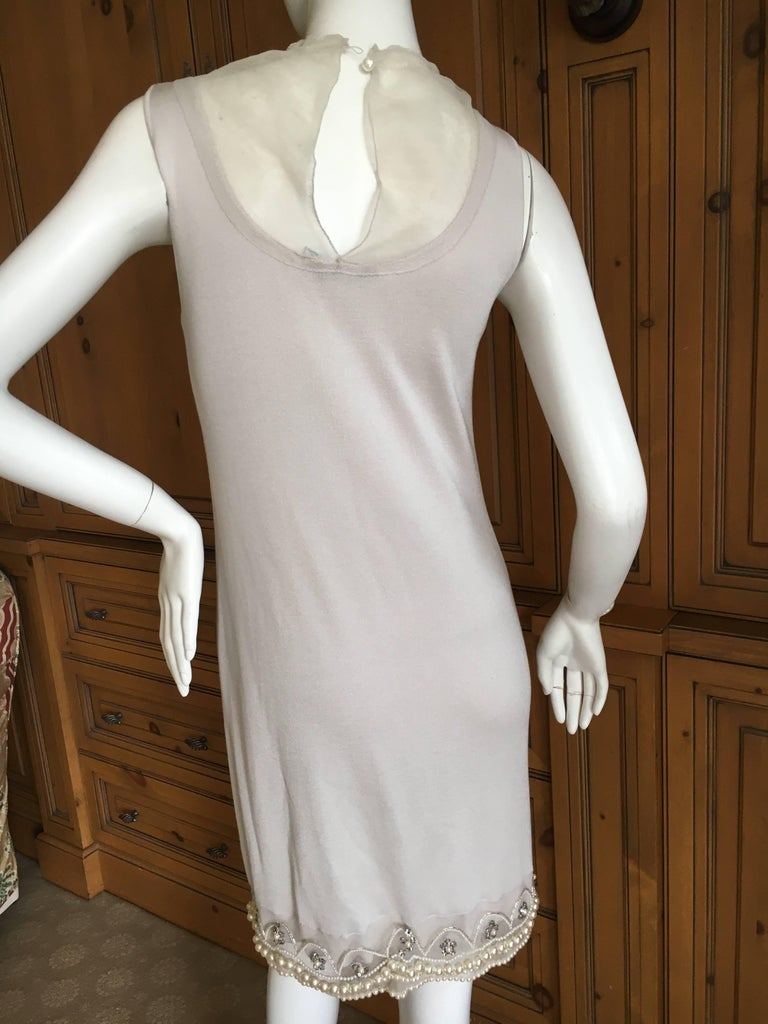 Christian Dior Chic Silk Dress with Lesage Trompe-l'œil Pearl and Crystal Jewels 8
