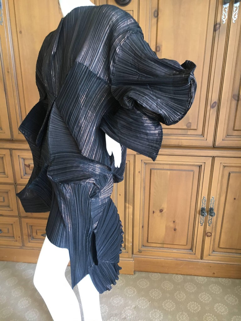 Issey Miyake Important Sculptural Black Vintage Dress In New Never_worn Condition For Sale In San Francisco, CA