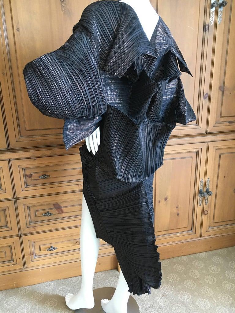 Issey Miyake Important Sculptural Black Vintage Dress For Sale 2