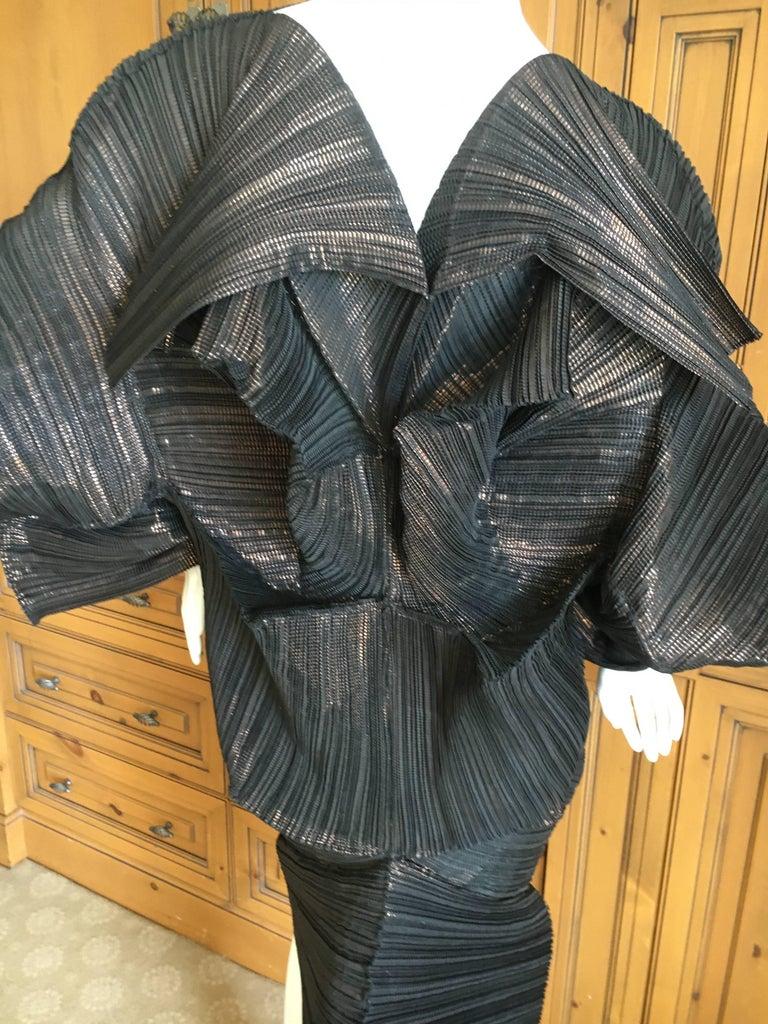Issey Miyake Important Sculptural Black Vintage Dress For Sale 3