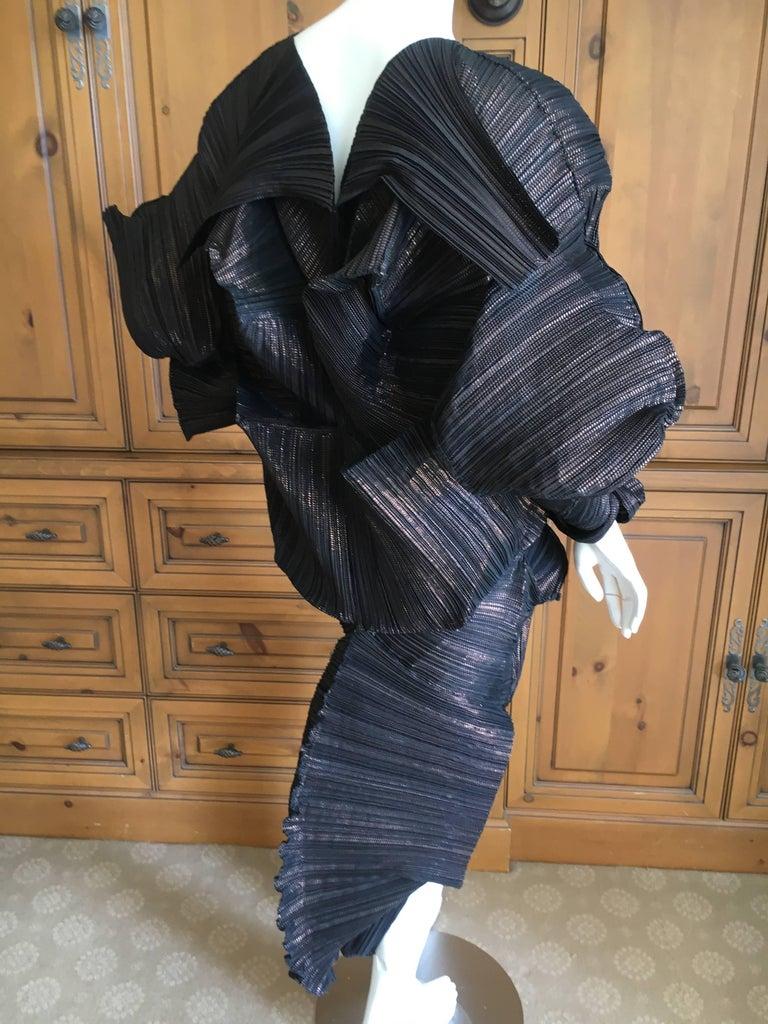 Issey Miyake Important Sculptural Black Vintage Dress For Sale 4
