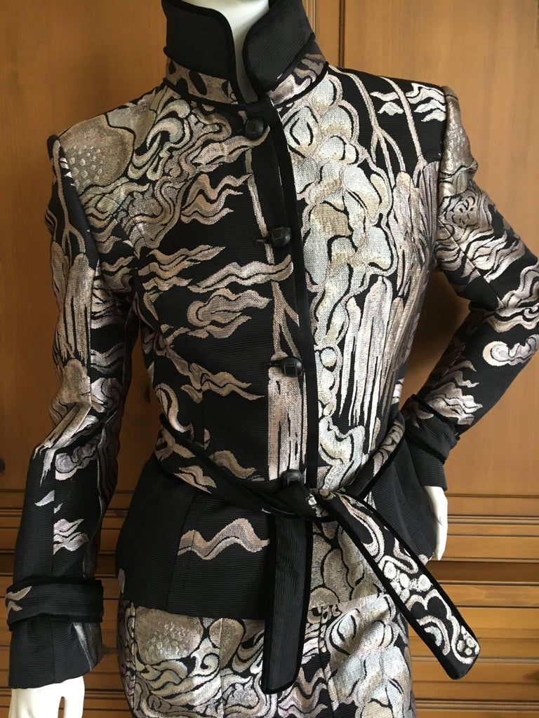 Yves Saint Laurent By Tom Ford 2004 Chinoiserie Jacquard