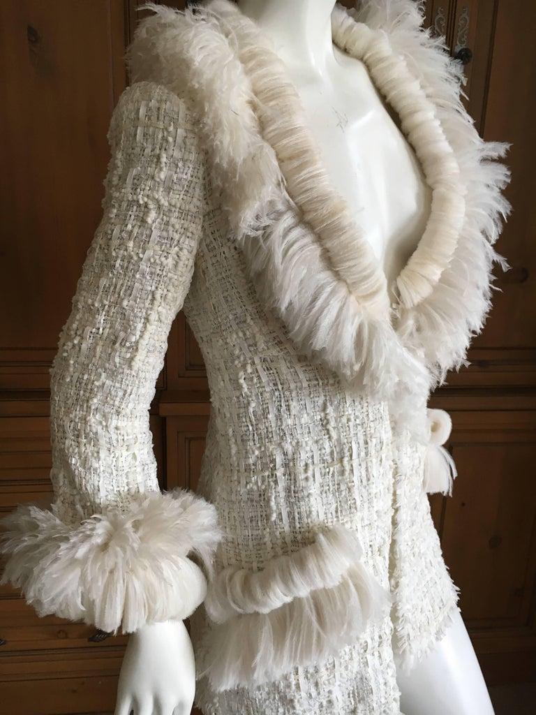 Chanel Maison Lemari 233 Feather Trim Fantasy Tweed Fringed