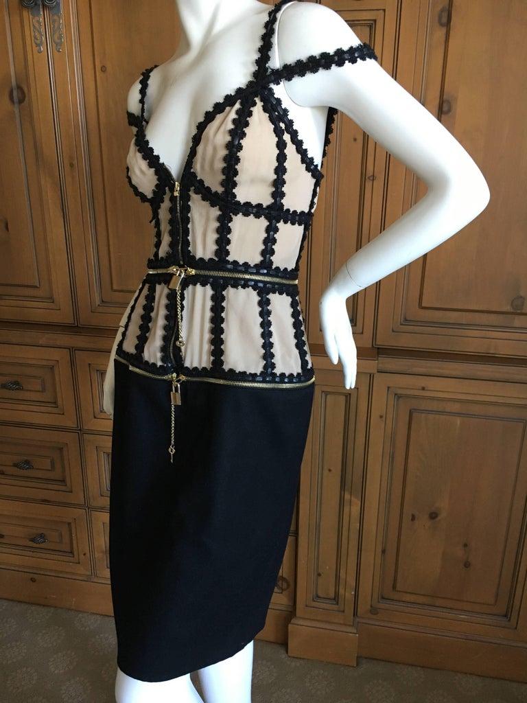 Black Alexander McQueen Rare Zip Apart Transformer Dress with All Locks & Keys For Sale