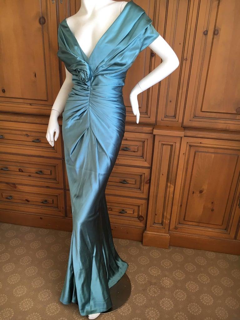 Christian Dior by John Galliano Exquisite Low Cut Silk Evening Dress  5