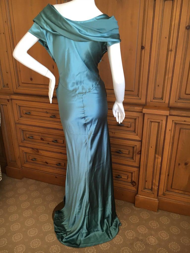 Christian Dior by John Galliano Exquisite Low Cut Silk Evening Dress  7