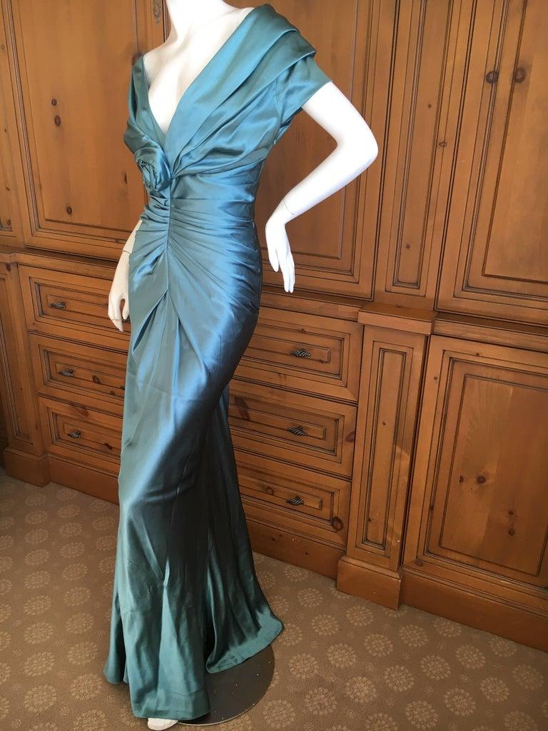 Christian Dior by John Galliano Exquisite Low Cut Silk Evening Dress  6
